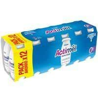 ACTIMEL LIQUID NATURAL 0%MG 12X100ML