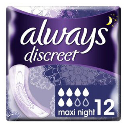 ALWAYS DISCREET COMP.MAXI NIT X12