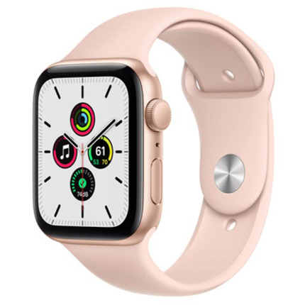 APPLE WATCH SE GPS, 44MM GOLD ALUMINIUM CASE WITH PINK SAND