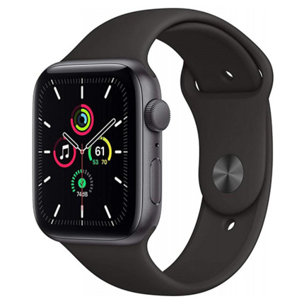 APPLE WATCH SE GPS, 44MM SPACE GRAY ALUMINIUM CASE WITH BLAC