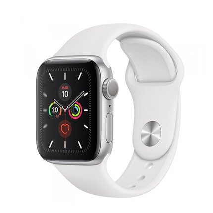 APPLE WATCH SERIES 5 GPS 40MM SILVER/WHITE SPORT BAND