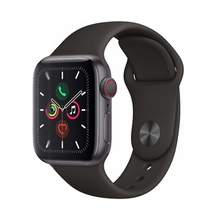 APPLE WATCH SERIES 5 GPS 40MM SPACE GREY/BLACK SPORT BAND