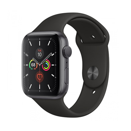 APPLE WATCH SERIES 5 GPS 44MM SPACE GREY/BLACK SPORT BAND