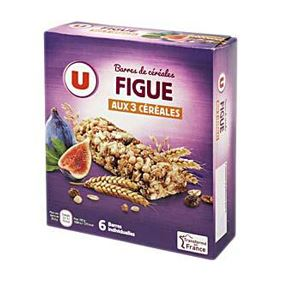 BARRE CEREALES FIGUE UX6 125G