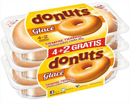 DONUTS NORMAL GLAS X4, 208G