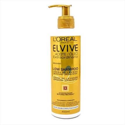ELVIVE LOW POO CABELL SEC A/DOS. 400ML