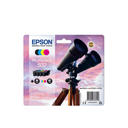 EPSON 502 PACK 4 COLORS CARTUTXO IMPRESSORA