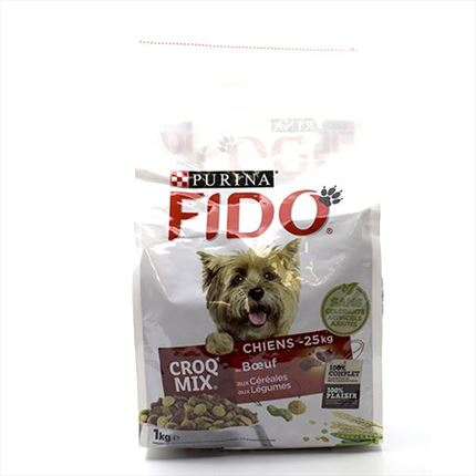 FIDO CROQ  MIX BF ADULTE 1KG