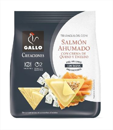 GALLO CREACIONS TRIANGLES AMB SALMO  250GR