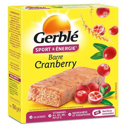 GERBLE BARRA SPORT CRANBERRIES 150GR