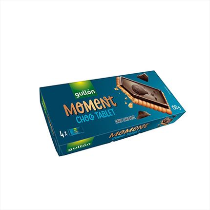 GULLON MOMENT TABLET XOCO NEGRE 150GR