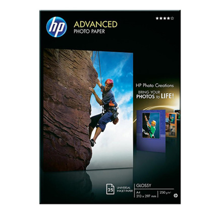 HP PAPER PHOTO GLACE A4 250GR X25UTS