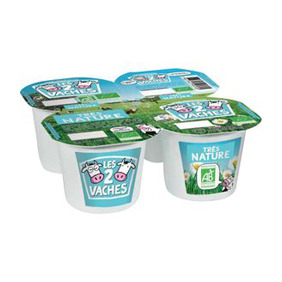 LES 2 VACHES BIO IOGURT NATURAL 4X115GR