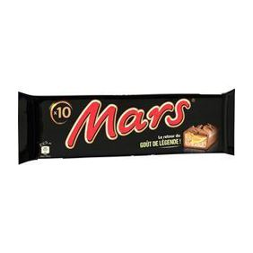 MARS BARRES CHOCOLATE.X10 420G