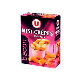 MINI CREPES BACON U PAQUET 65G