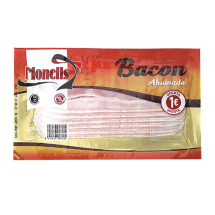MONELLS BACON LONCHAS 120GR