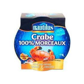 NAUTILUS FOOD CRABE 100% 1/4