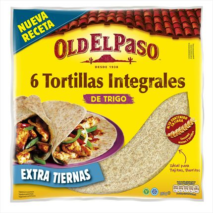 OLD EL PASO TORTILLAS INTEGRALES 350G