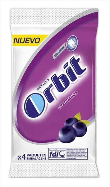 ORBIT ARANDANO 10 GRAGEAS PACK DE 4.....