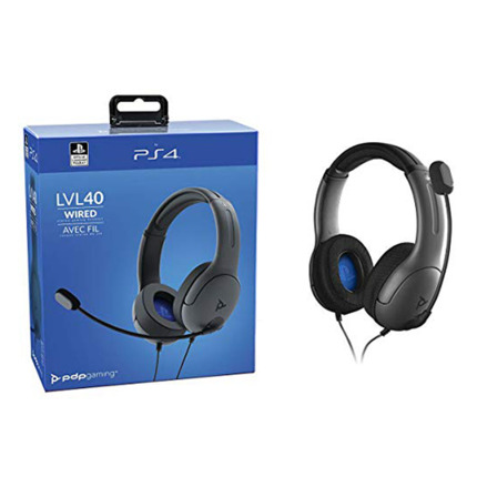 PS4 LVL40 WIRELESS GRIS AURICULAR GAMING LICENCIA