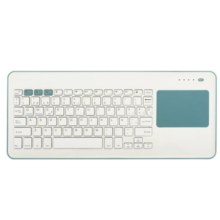 SILVERHT TECLAT TOUCHPAD WIRELESS WHITE/BLUE