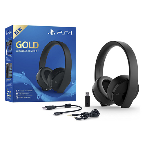 SONY AURICULARS PS4 2.0?GOLD WIRELESS?BLACK