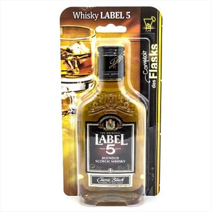 S.WHISKY LABEL 5 FLASK 40?20CL