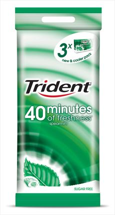 TRIDENT XICLET HIERBABUENA 40MIN. X3