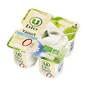 U BIO IOGURT NATURAL 0%MG 4X125GR