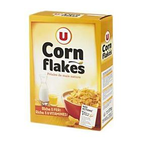 U CEREALS CORN FLAKES  375GR