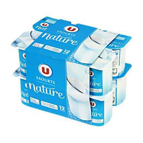 U IOGURT NATURAL  12X125GR